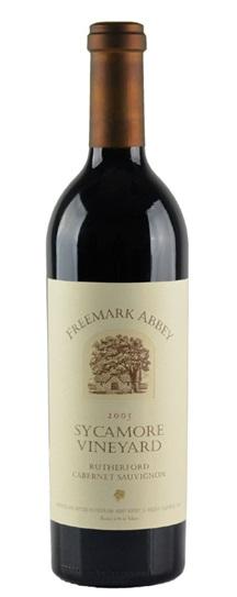 1986 Freemark Abbey Cabernet Sauvignon Sycamore Vineyards