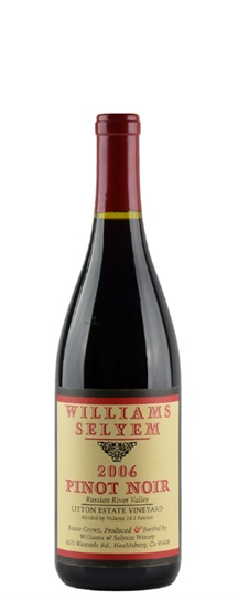 2006 Williams Selyem Pinot Noir Litton Estate Vineyard