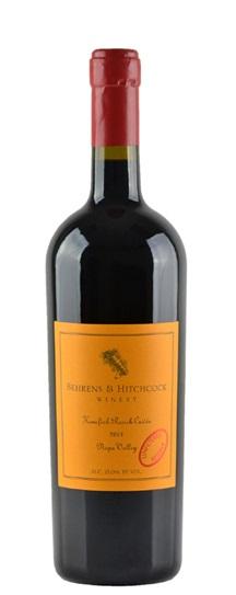 1999 Behrens and Hitchcock Cabernet Sauvignon Kenefick Ranch Cuvee Reserve