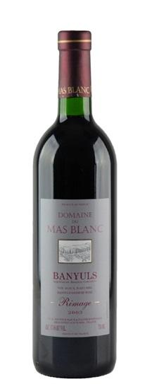 2003 Domaine du Mas Blanc (Dr Parce) Banyuls Rimage