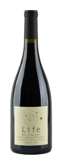 2011 Cooper Mountain Life Pinot Noir (Sulpher Free)