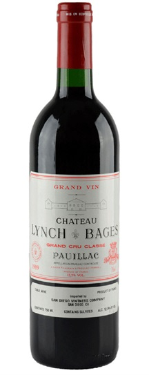 1989 Lynch Bages Bordeaux Blend