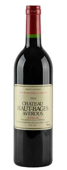 1993 Haut Bages Averous Bordeaux Blend