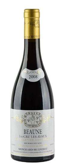 2008 Mongeard-Mugneret, Domaine Beaune Avaux 1er Cru