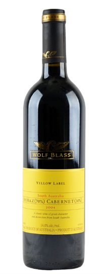 2004 Wolf Blass Cabernet Sauvignon / Shiraz Yellow Label