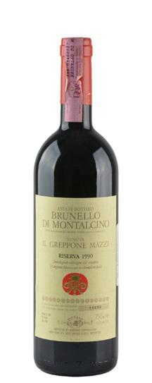 1990 Il Greppone Mazzi Brunello di Montalcino