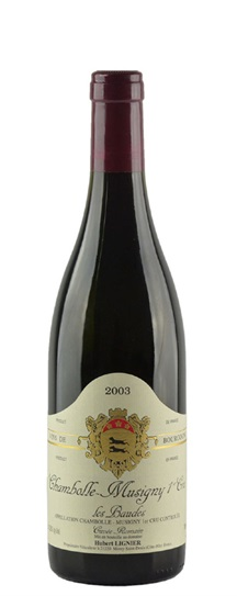 2003 Domaine Hubert Lignier Chambolle Musigny les Baudes