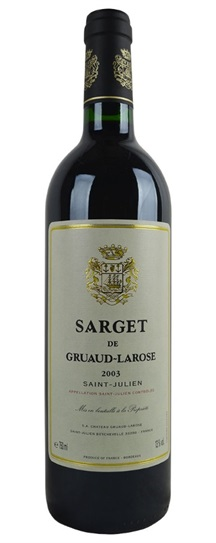 2003 Sarget de Gruaud Larose Bordeaux Blend