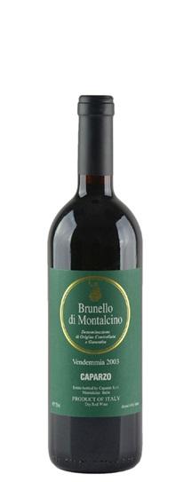 2003 Caparzo Brunello di Montalcino Vendemmia