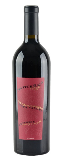 2003 Switchback Ridge Cabernet Sauvignon Peterson Family Vineyard