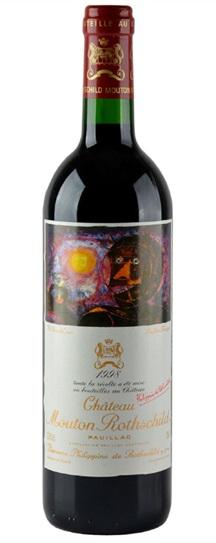 1998 Mouton-Rothschild Bordeaux Blend
