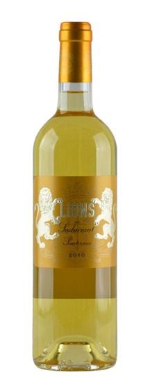 2010 Les Lions de Suduiraut Sauternes Blend