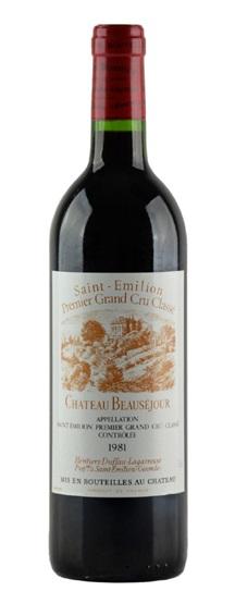 1981 Beausejour (Duffau Lagarrosse) Bordeaux Blend