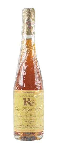 1998 Zind Humbrecht, Domaine Pinot Gris Rangen de Thann Clos St Urbain Selection de Grains Nobles