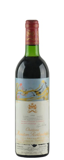 1981 Mouton-Rothschild Bordeaux Blend