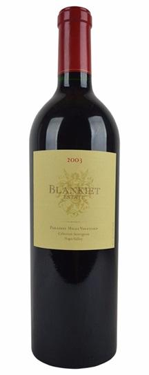 2003 Blankiet Cabernet Sauvignon Paradise Hills Vineyard