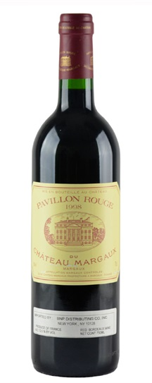 1998 Margaux, Pavillon Rouge du Chateau Bordeaux Blend