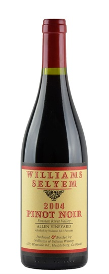 2004 Williams Selyem Pinot Noir Allen Vineyard