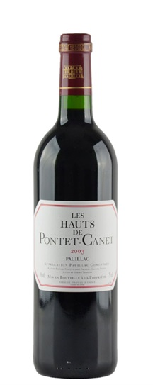 2003 Pontet-Canet, Hauts de Bordeaux Blend