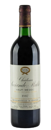 1987 Sociando-Mallet Bordeaux Blend