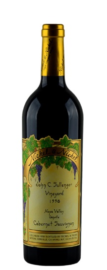 1998 Nickel & Nickel Cabernet Sauvignon John C Sullenger Vineyard