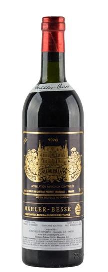 1978 Chateau Palmer Bordeaux Blend