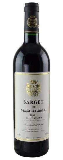 2000 Sarget de Gruaud Larose Bordeaux Blend