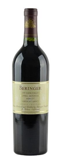 1995 Beringer Merlot Bancroft Ranch