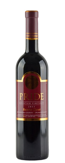 2000 Pride Mountain Vineyards Reserve Claret
