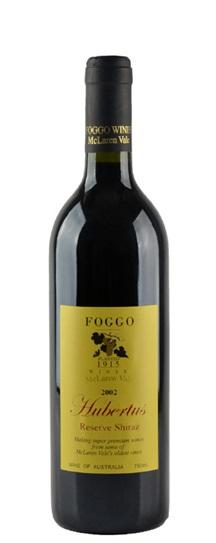 2002 Foggo Shiraz Reserve Hubertis