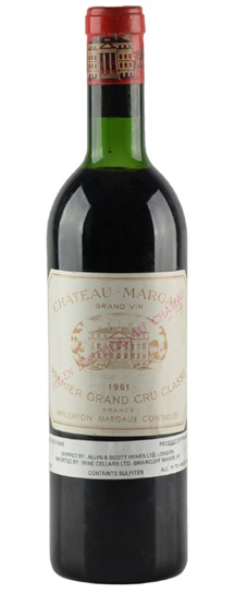 1961 Margaux, Chateau Bordeaux Blend