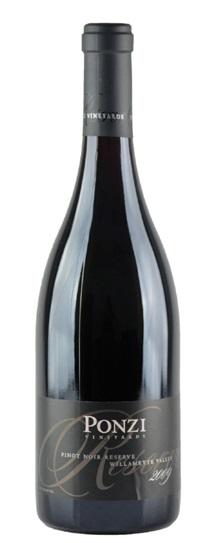 2009 Ponzi Pinot Noir Reserve