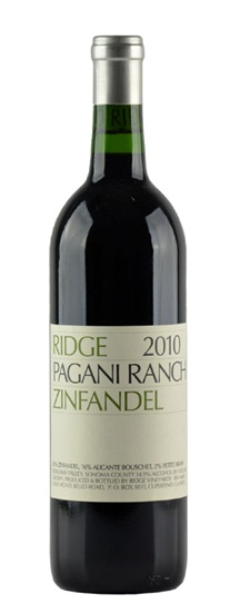 2011 Ridge Zinfandel Pagani Ranch