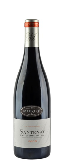 2008 Domaine  Vincent & Sophie Morey Santenay Passetemps Premier Cru