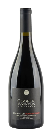 2009 Cooper Mountain Mountain Terrior Pinot Noir (biodynamically certified)