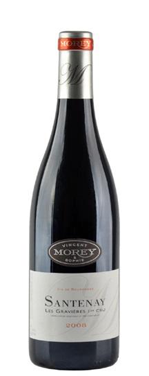 2008 Domaine  Vincent & Sophie Morey Santenay Gravieres 1er Cru