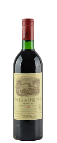 1982 Moulin des Carruades de Lafite Rothschild Bordeaux Blend