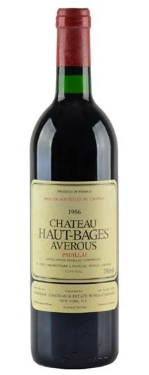 1986 Haut Bages Averous Bordeaux Blend
