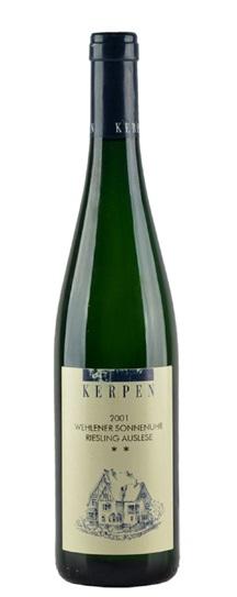 2001 Kerpen, Heribert Riesling Auslese Wehlener Sonnenuhr (2 Star)