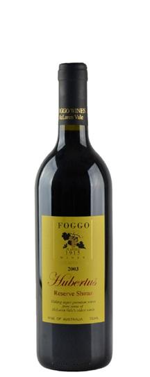 2003 Foggo Shiraz Reserve Hubertis