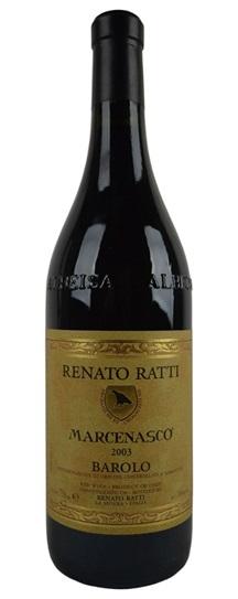 2003 Renato Ratti Barolo Marcenasco