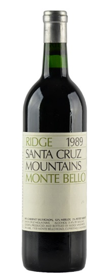 1989 Ridge Monte Bello