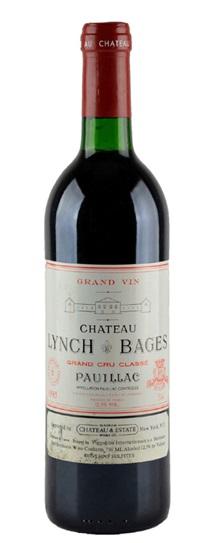 1985 Lynch Bages Bordeaux Blend