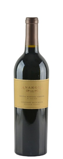 2003 Anakota Cabernet Sauvignon Helena Montana Vineyard