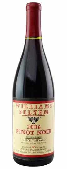 2007 Williams Selyem Pinot Noir Hirsch Vineyard