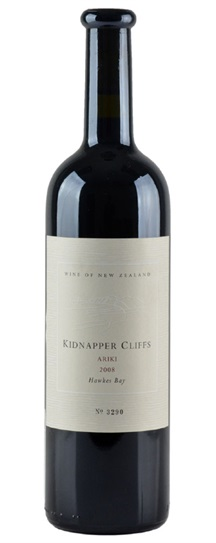 2008 Kidnapper Cliffs Ariki Red Blend