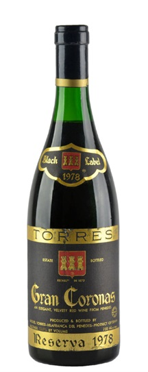 1978 Torres Gran Coronas Black Label Reserva