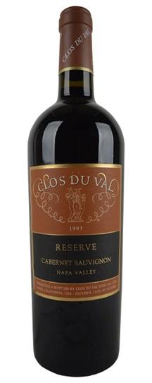 1999 Clos du Val Cabernet Sauvignon Reserve