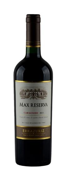 2010 Errazuriz Carmenere Max Reserva