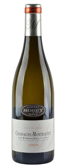 2012 Domaine Vincent & Sophie Morey Chassagne Montrachet Les Embrazees 1er Cru